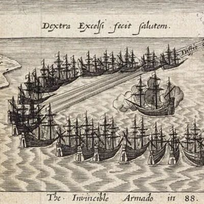 The Spanish Armada - a triumph for the English Queen and her commander Sir Francis Drake