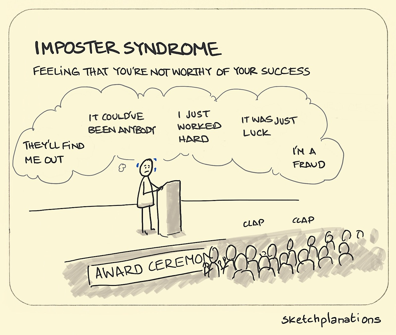 Imposter syndrome - Sketchplanations