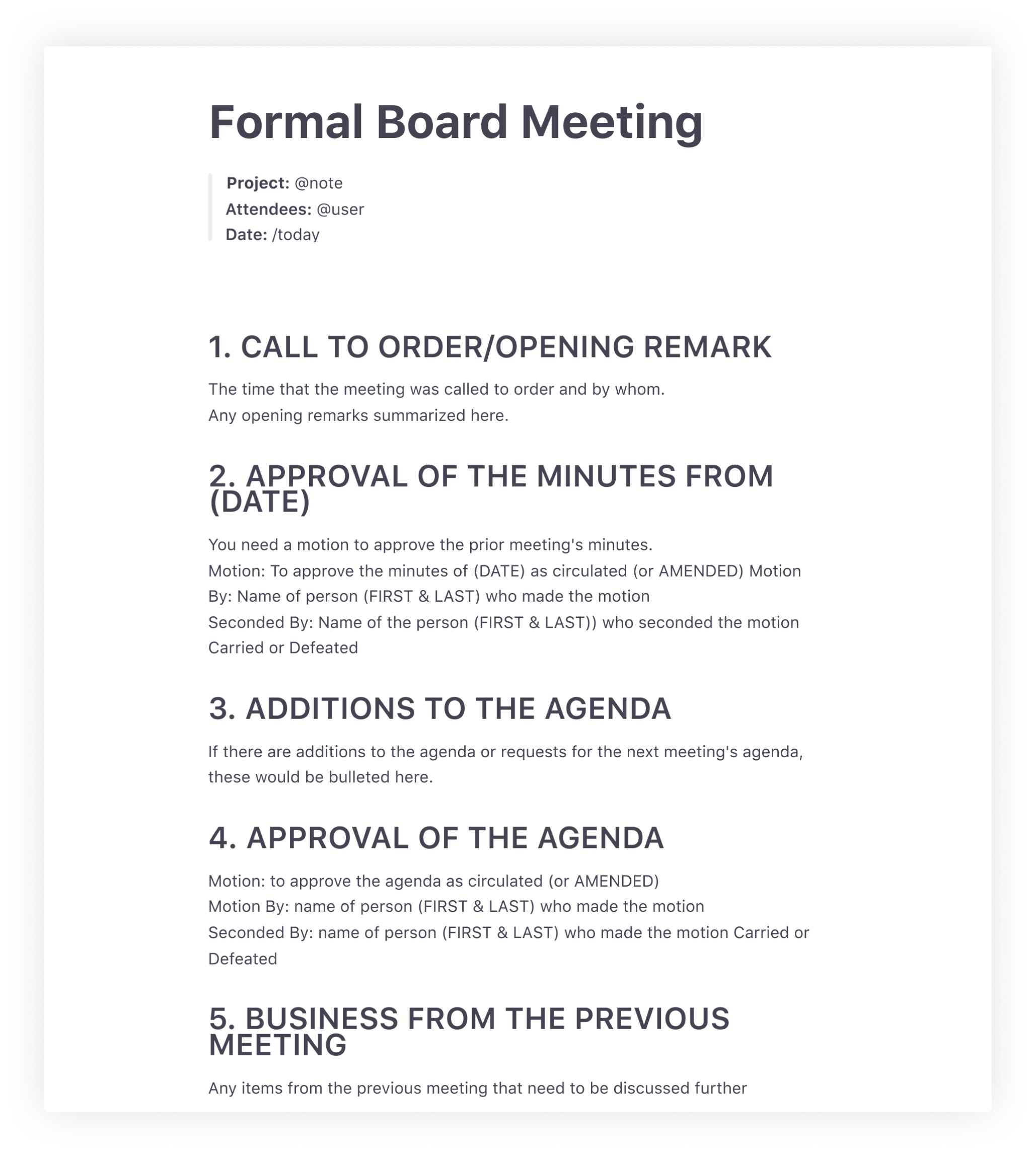 How To Write Effective Meeting Minutes: Templates And Examples