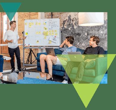 DevOps team during a meeting.