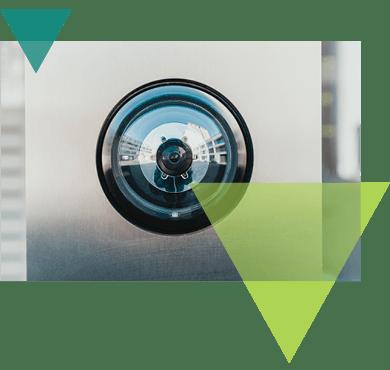 A surveillance camera recording.