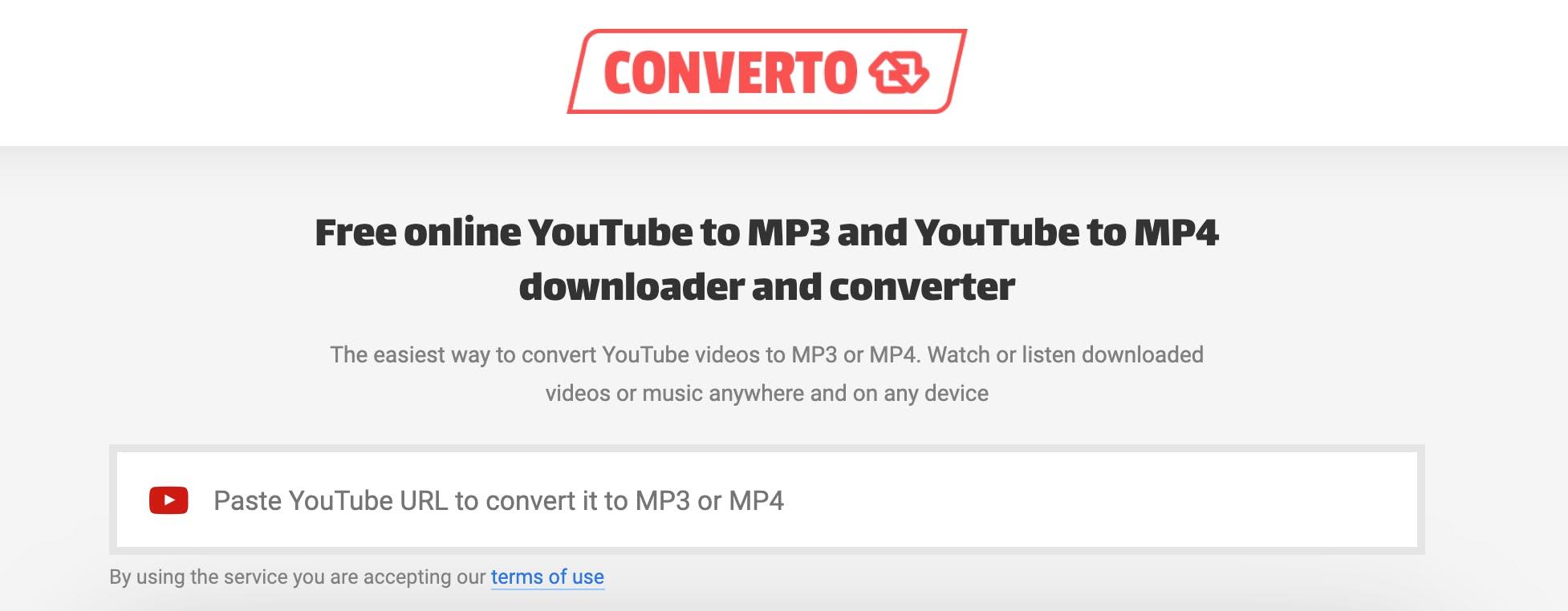 Converto youtube converter