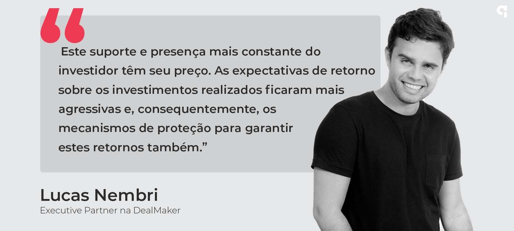 Lucas Nembri, executivo da dealmaker fala sobre investimentos no Brasil