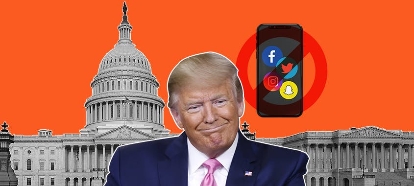 facebook twitter instagram snapchat bloqueam trump