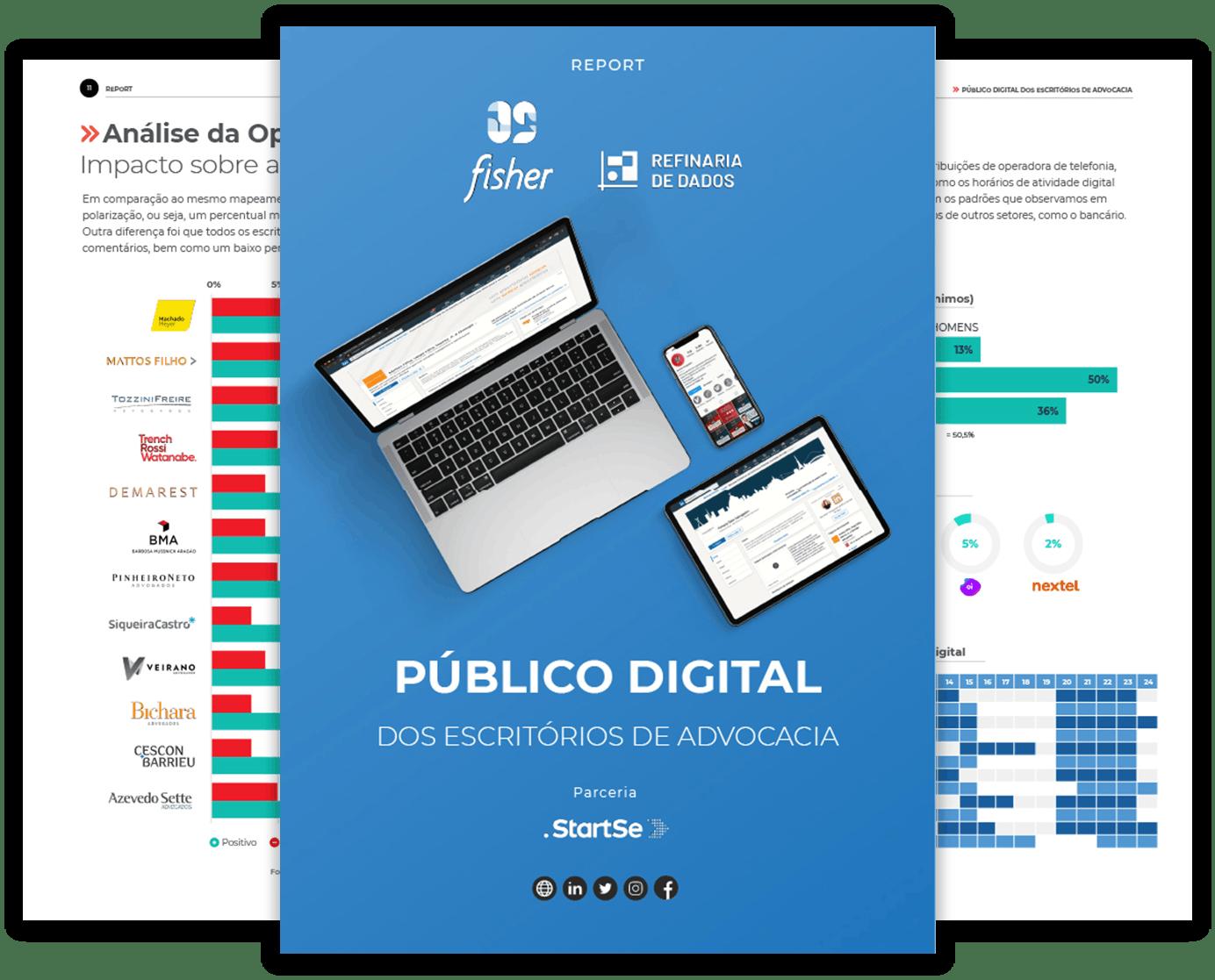Capas report público digital dos escritórios de advocacia