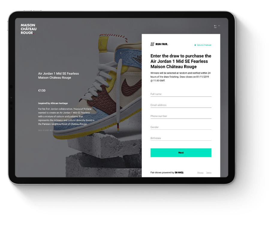 launch entry form