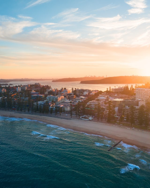 Aerial photography of Manly Beach