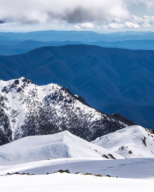 Snow fields of Kosciuszko National Park, Snowy Mountains