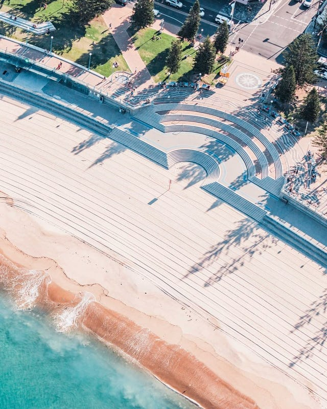 Aerial view of Coogee Beach in Sydney's Eastern Suburbs