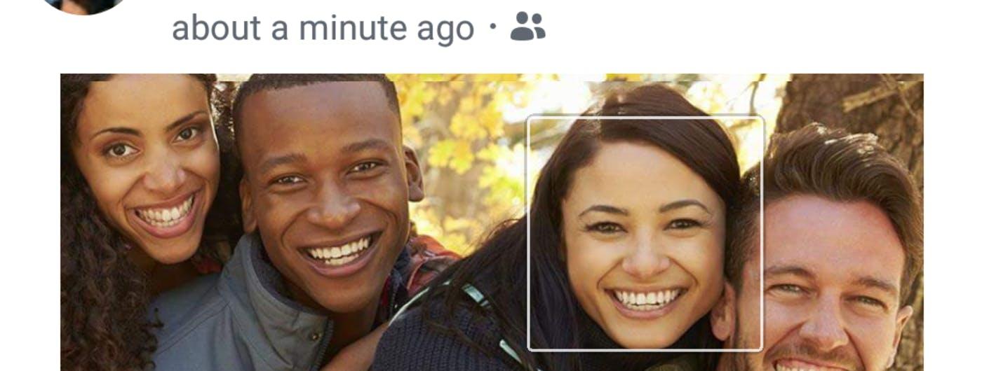 El reconocimiento facial de Facebook en fotos sin etiquetar