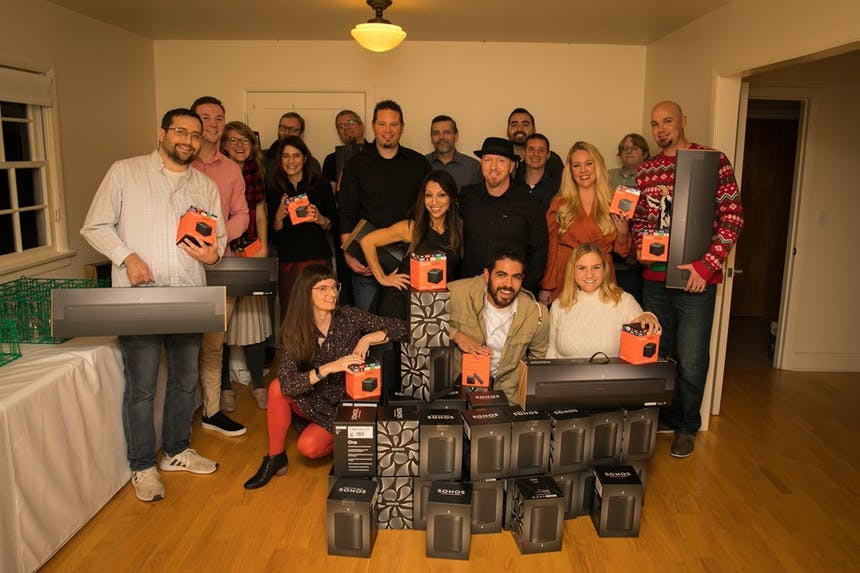 SoCreate team poses with their gifts