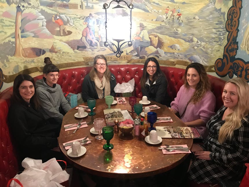 All of the SoCreate women get together for a ladies lunch to reconnect on work and life
