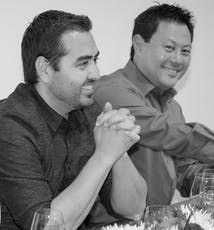 SoCreates leitender Softwareentwickler John and Medienspezialist Doug haben Spaß.