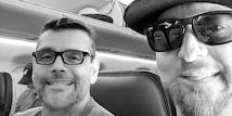 SoCreate CEO Justin and CTO Billy on a plane flying to a developer conference along with the rest of the development team.