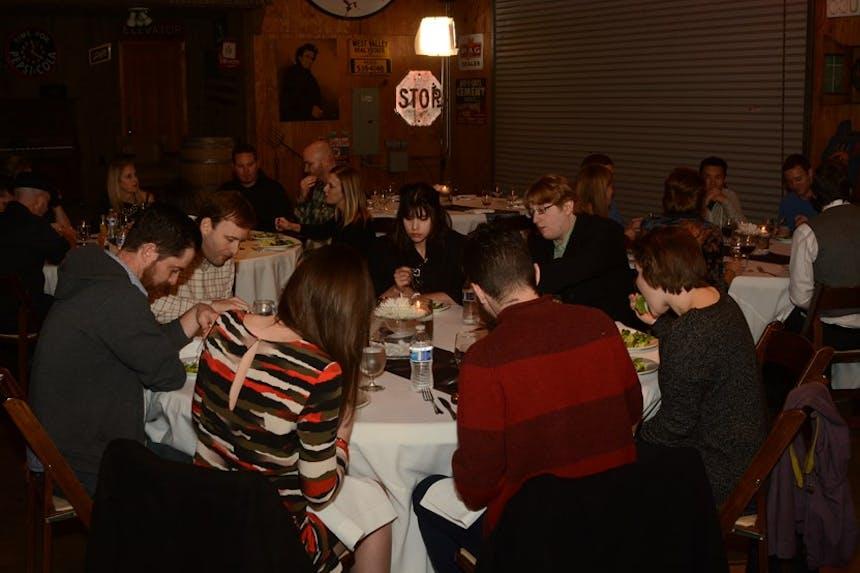 SoCreateの年末パーティーテーブル