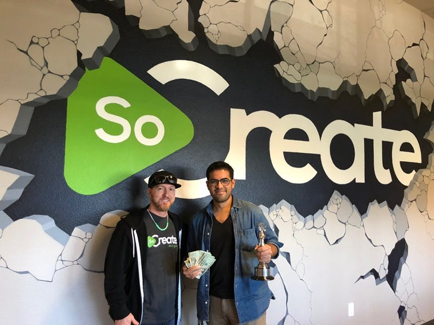 SoCreate 2018年オスカーがジャスティンとサムの勝者