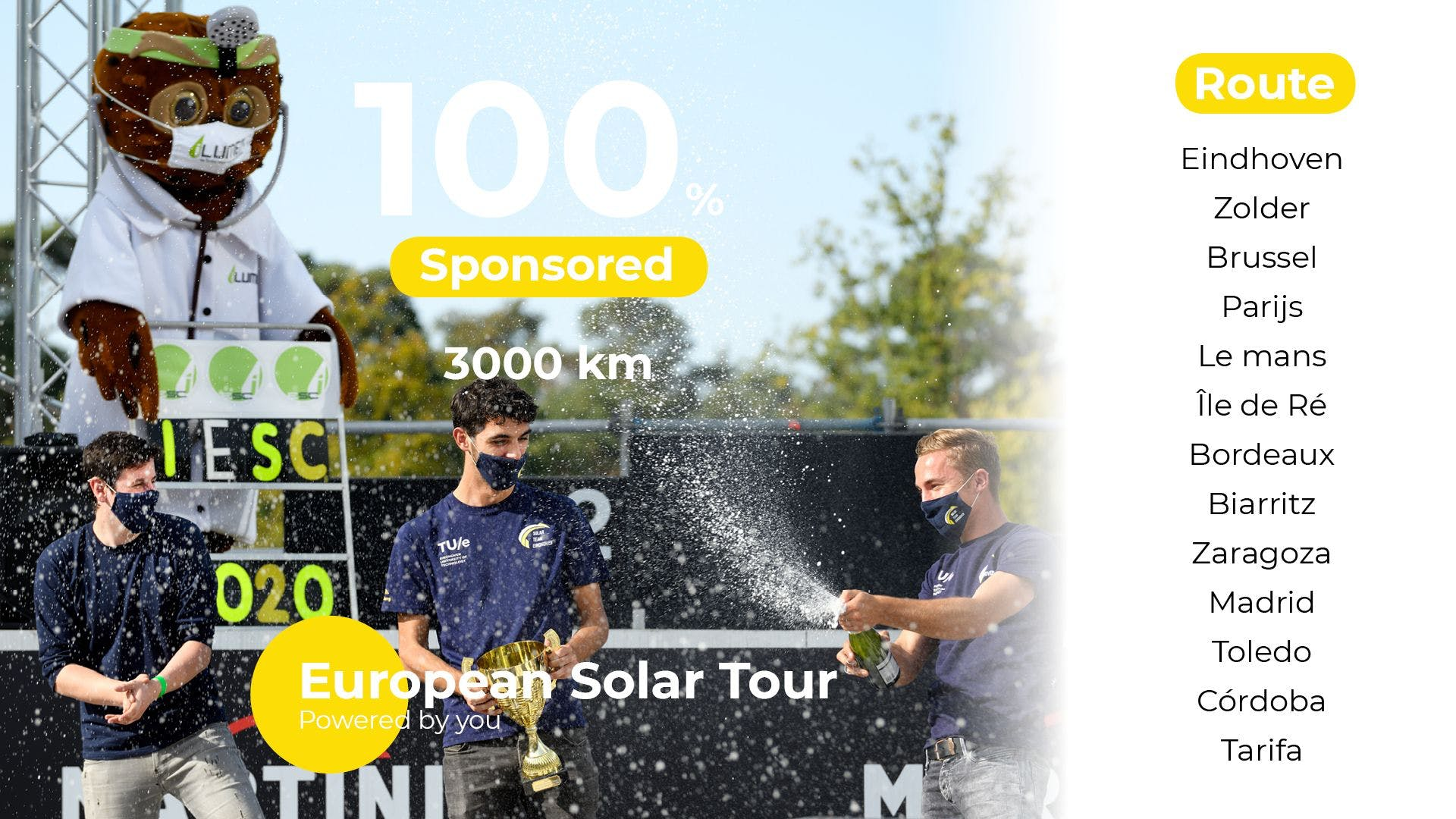 Solar Team Eindhoven goes to the most southern part of Europe, Tarifa