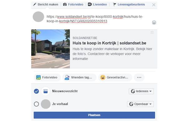Je huis verkopen op Facebook stap 2