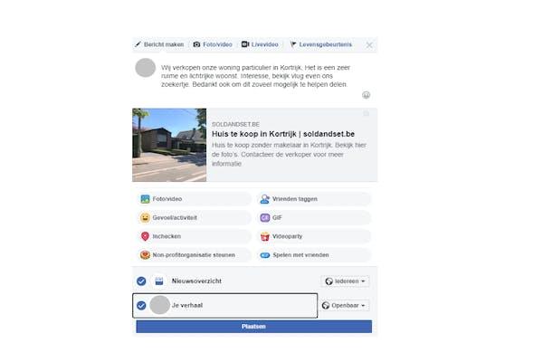 Je huis verkopen op Facebook stap 3