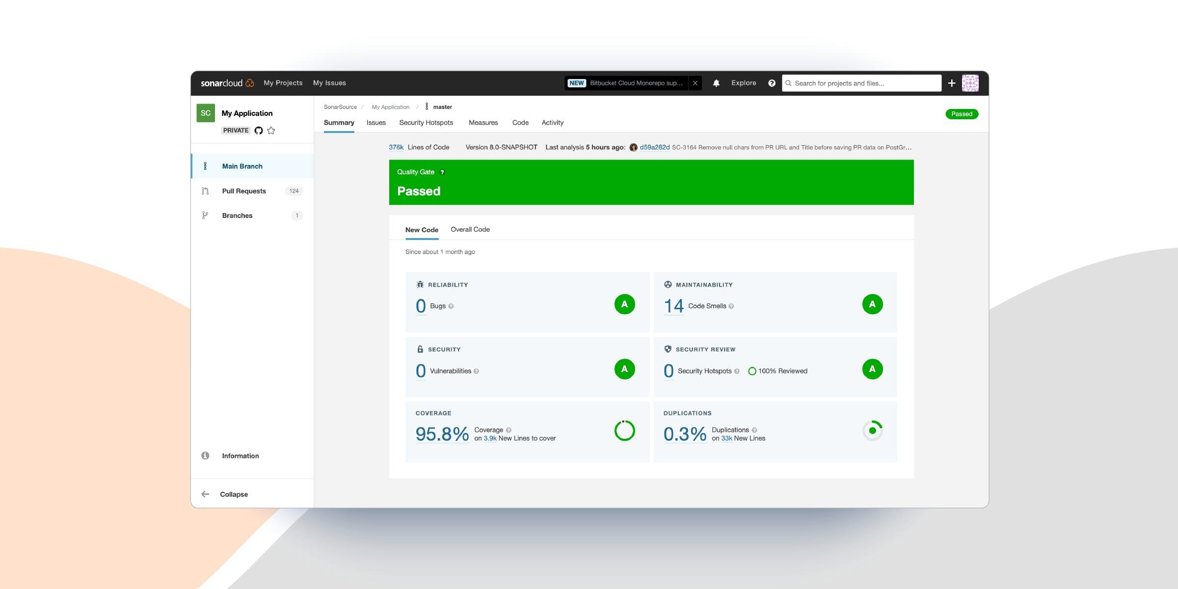 SonarCloud new UX