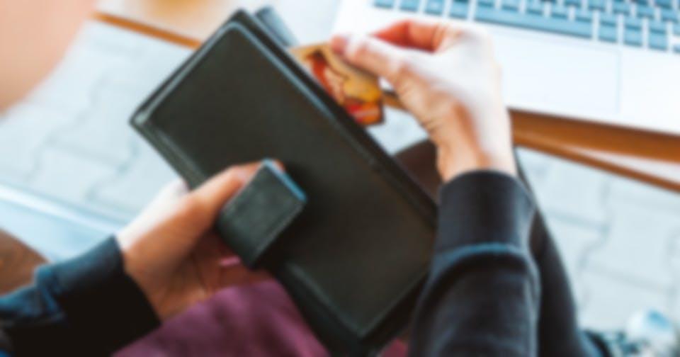 Luottokortti lompakossa