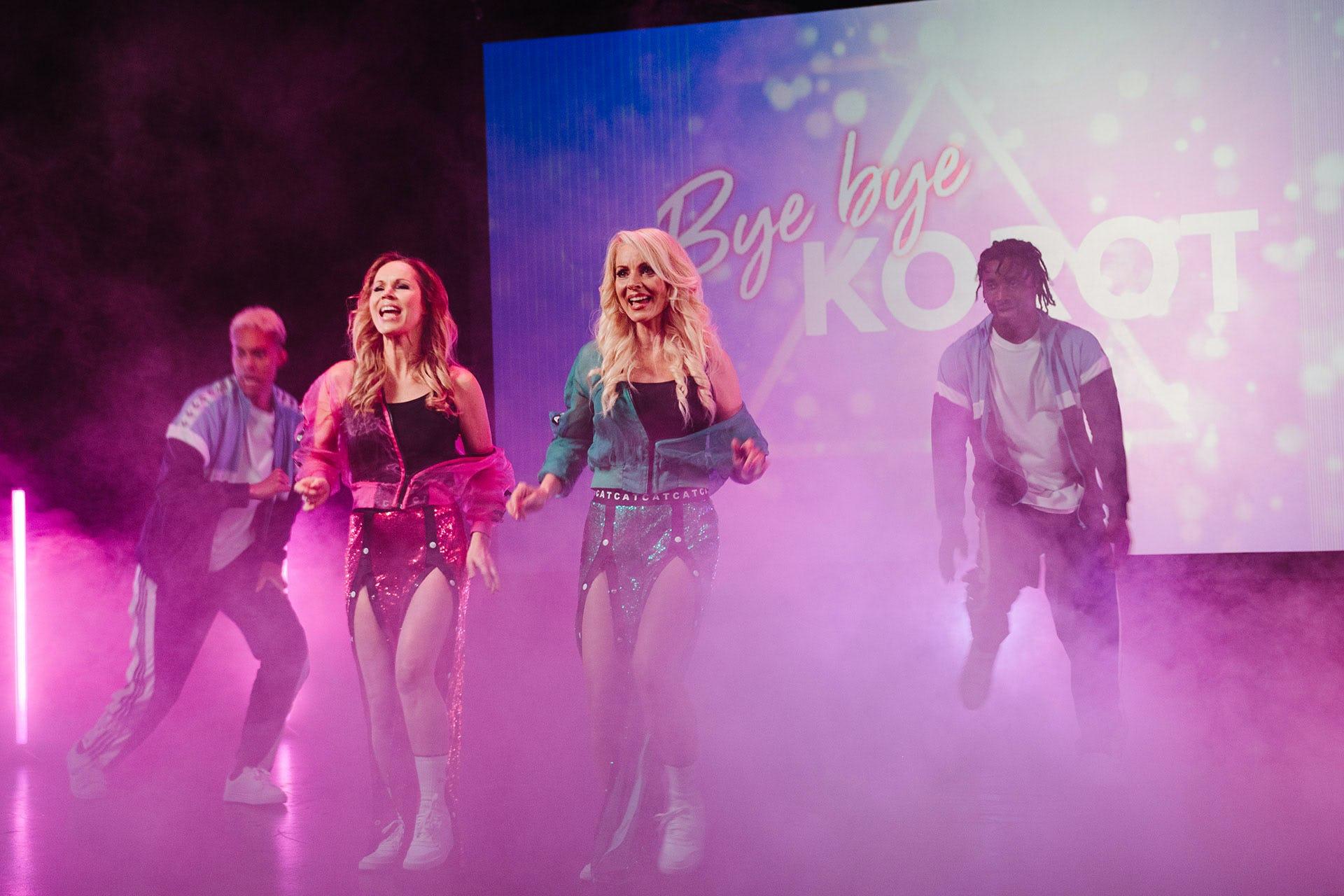 Bye Bye Korot -musiikkivideon kuvauksissa