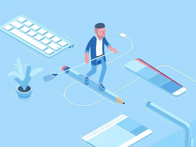 Graphic of a man walking the tightrope of international business