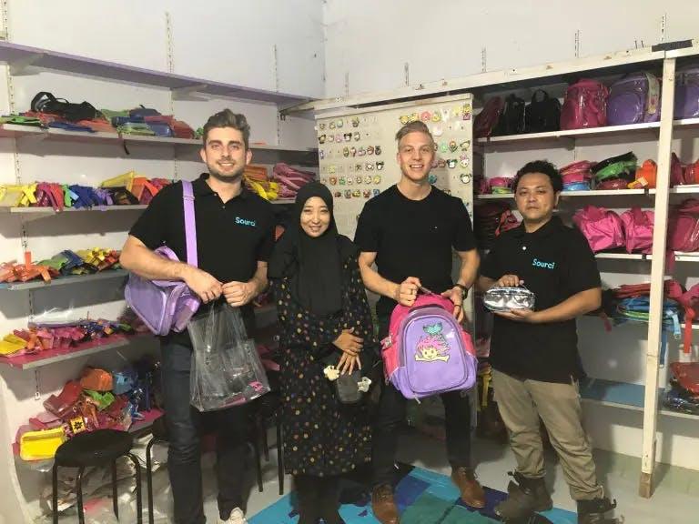 Sourci teams factory visit in Bandung, Idonesia