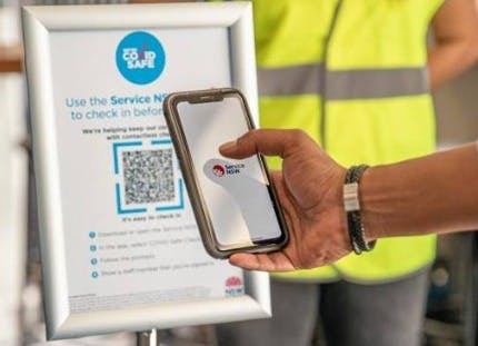 Scanning a QR code with a phone