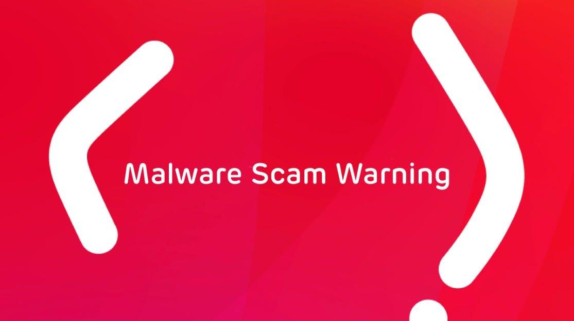 Malware Scam Warning