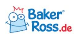 Baker Ross Schriftzug auf weißem Grund