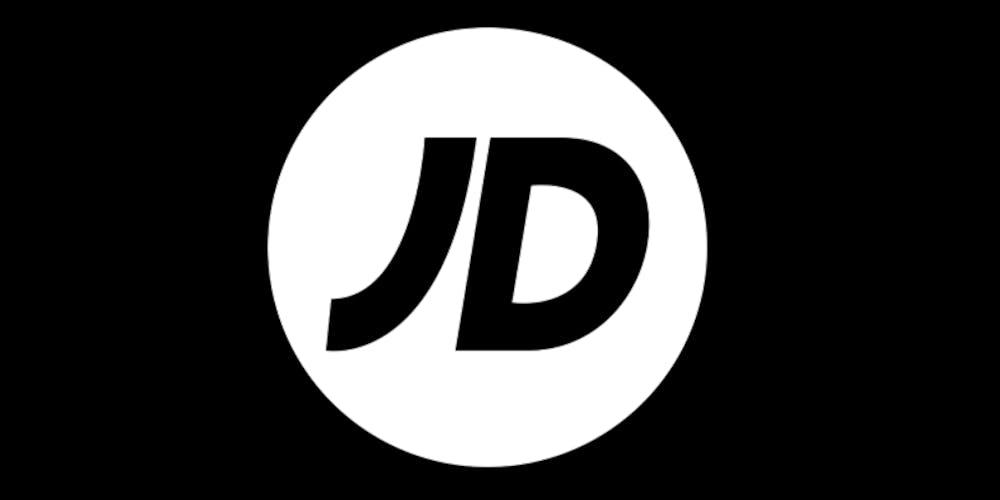 Schwarzweißes JD Sports Logo
