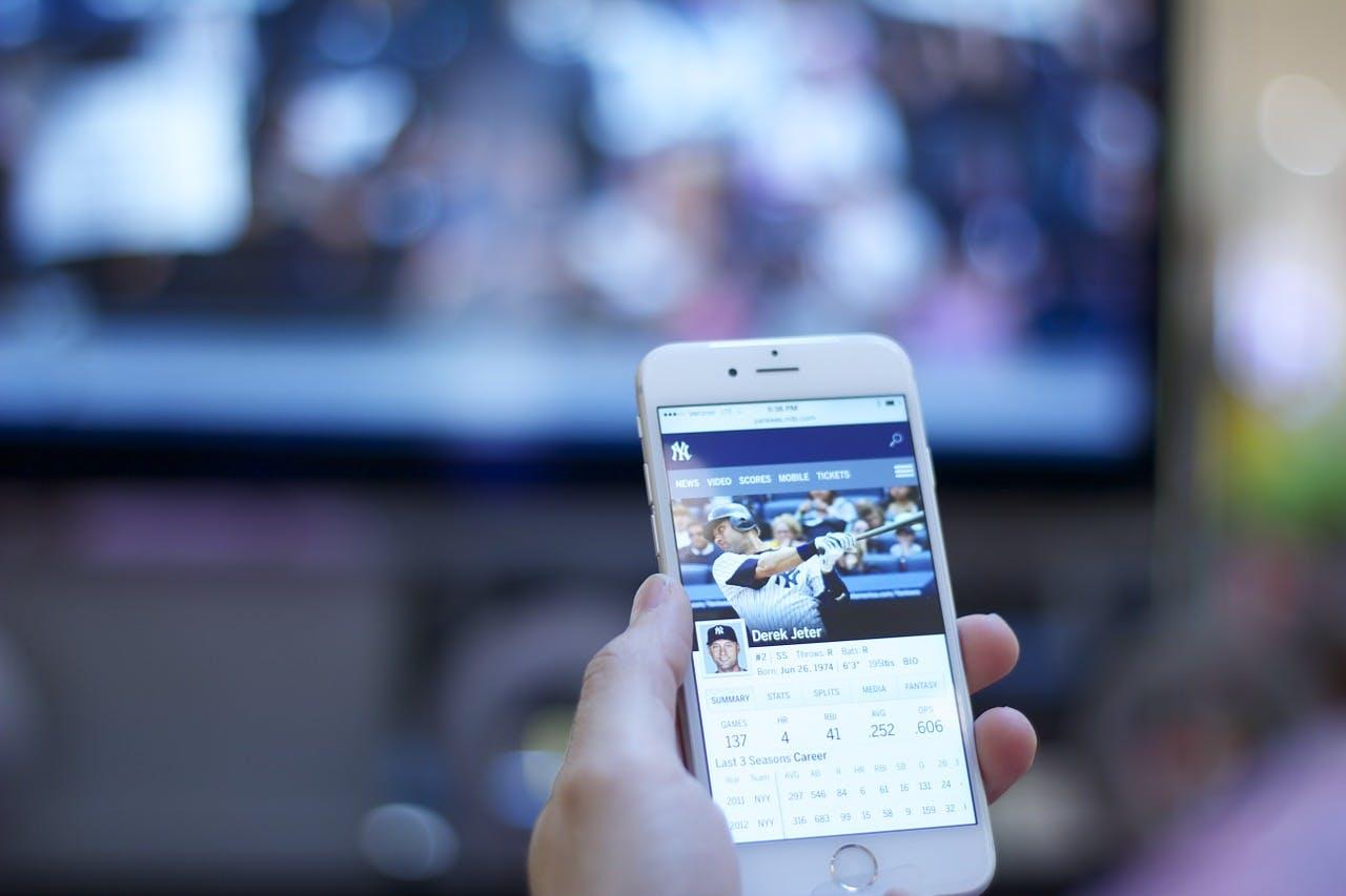 Streaming-Ansicht auf Smartphone