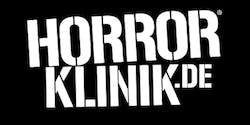 Horrorklinik Logo auf schwarzem Grund