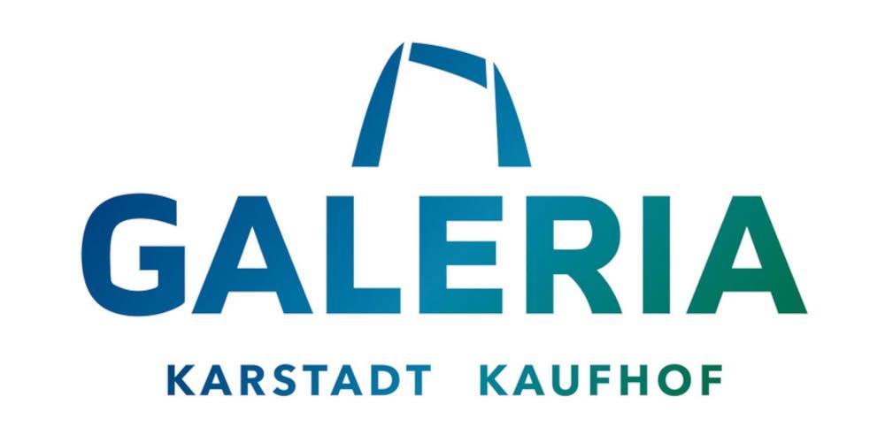 Galeria Karstadt Kaufhof Schriftzug auf weißem Grund