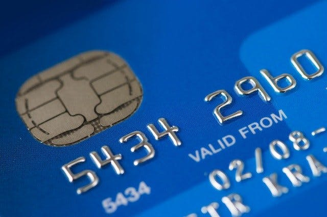 Kreditkarte in Nahaufnahme