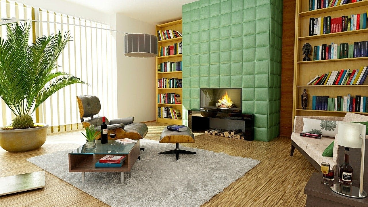 Mondän eingerichtetes Zimmer