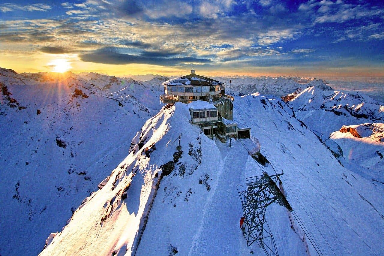 Unterkunft in den Alpen