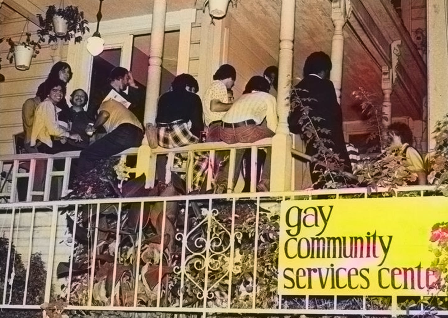 The Los Angeles Gay Community Services Center (GCSC), 1974. Photo by Pat Rocco.
