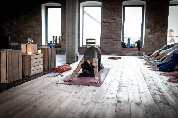 Melting heart yoga posture