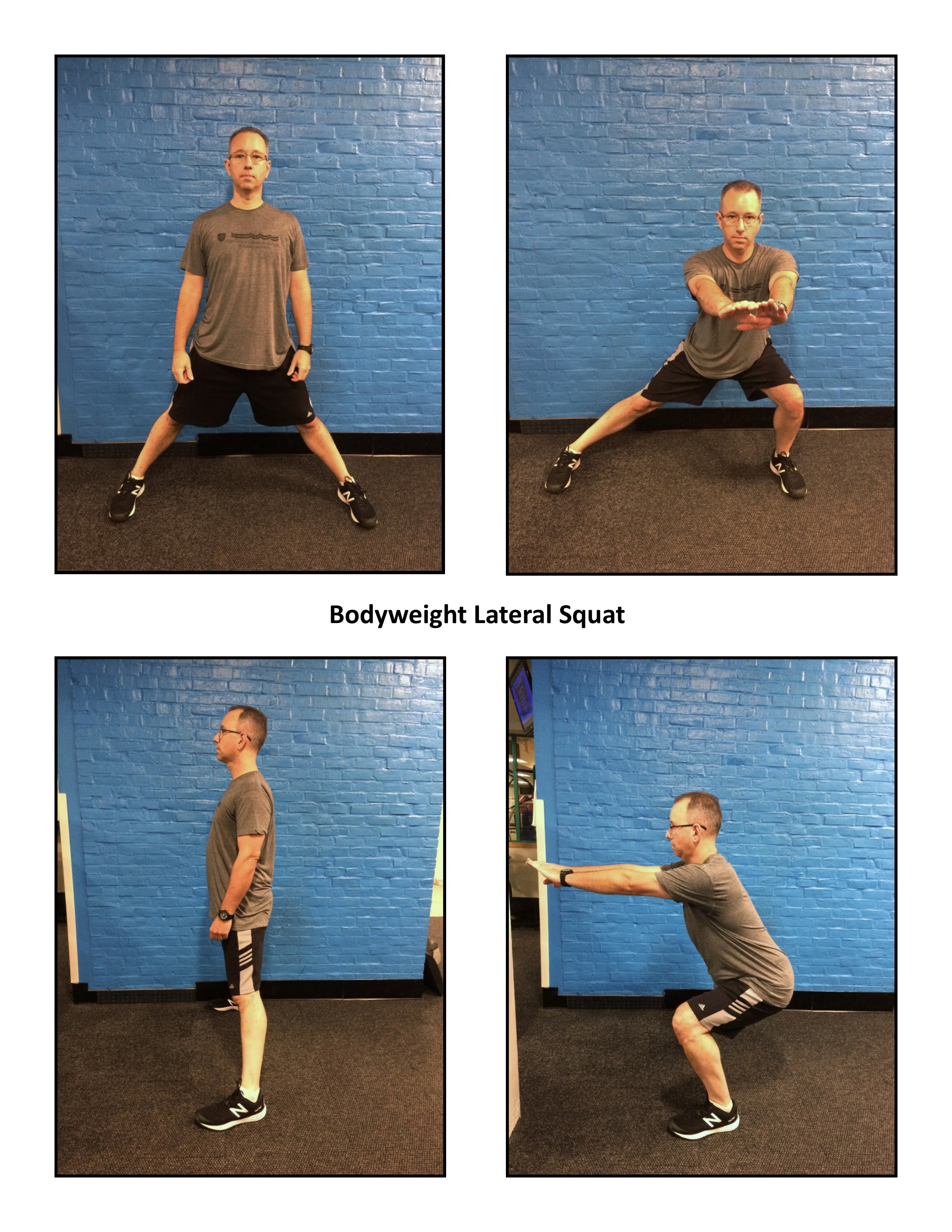 male performing later squat