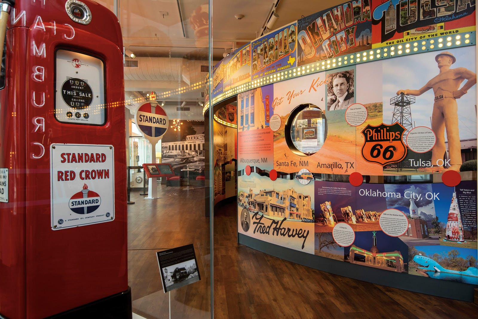 Route 66 section at the History Museum on the Square