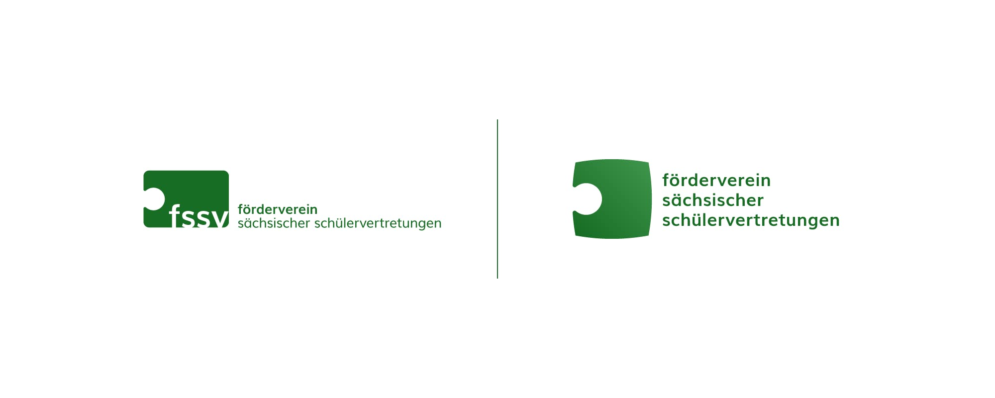 Vergleich der Logos für den FSSV aus Dresden.