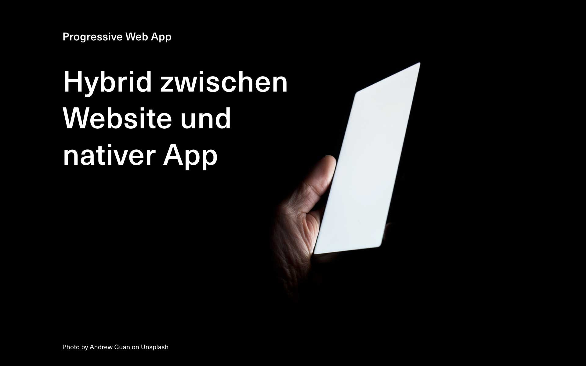 Folie bei der Keynote zum Thema Progressive Web App beim Meetup von 12min.me.