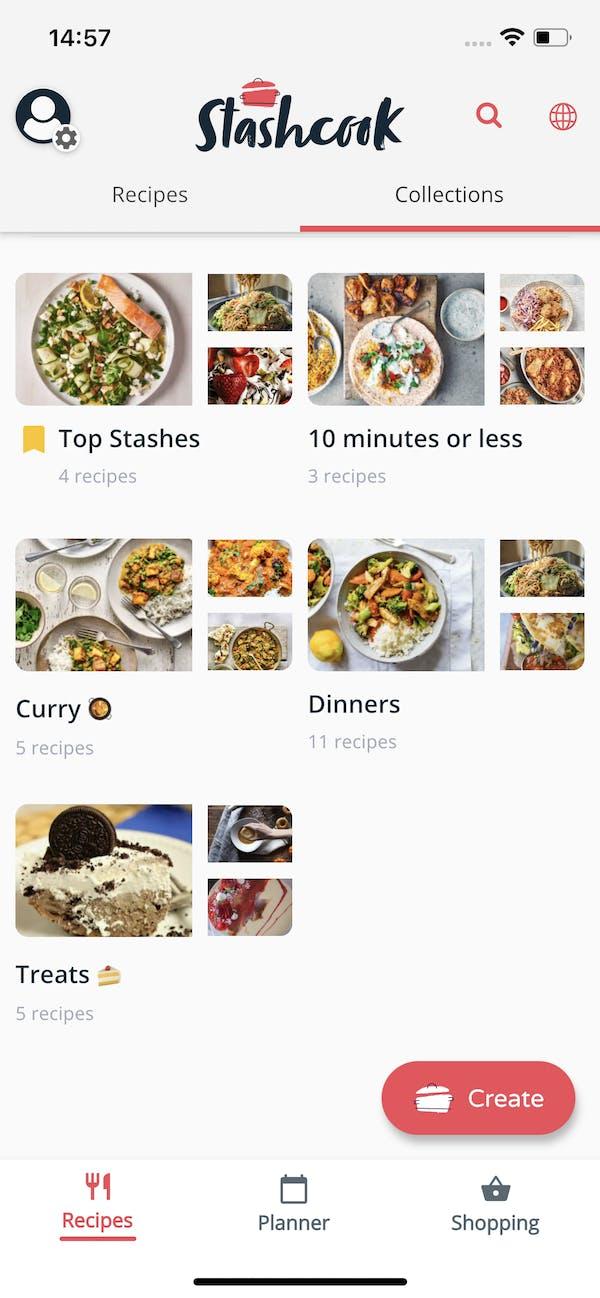 Stashcook Recipe Collections screenshot
