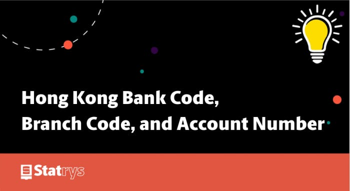 Hong Kong Bank Code, Brand Code, and Account Number