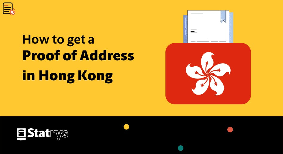 How to get a proof of address in Hong kong
