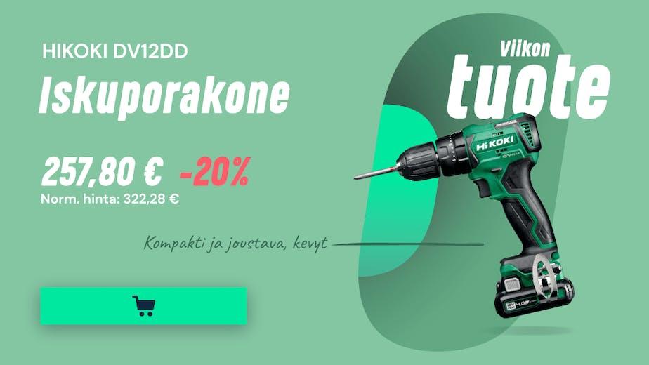 https://www.staypro.fi/koneet-tyokalut/akkukayttoiset-tyokalut/iskuporakoneet/hikoki-dv12dd-iskuporakone-40ah-akuilla-ja-laturilla-2330424