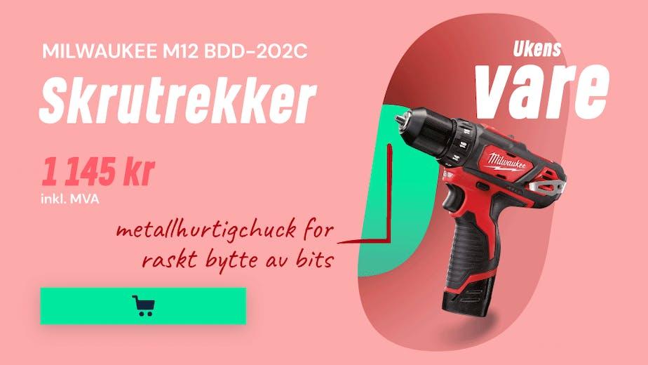 https://www.staypro.no/maskiner-verktoy/batteridrevne-verktoy/drillskrutrekker/milwaukee-m12-bdd-202c-borskrutrekker-med-batterier-og-lader-js12115
