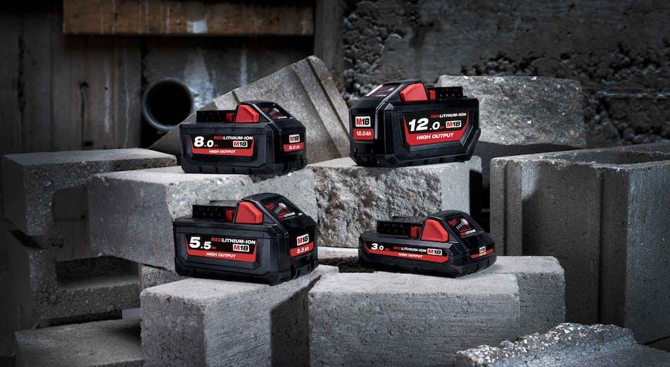 Nyhet: Milwaukee oppgraderer hele M18 -systemet med nye High Output-batterier!